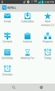 IQTELL Mobile App main screen