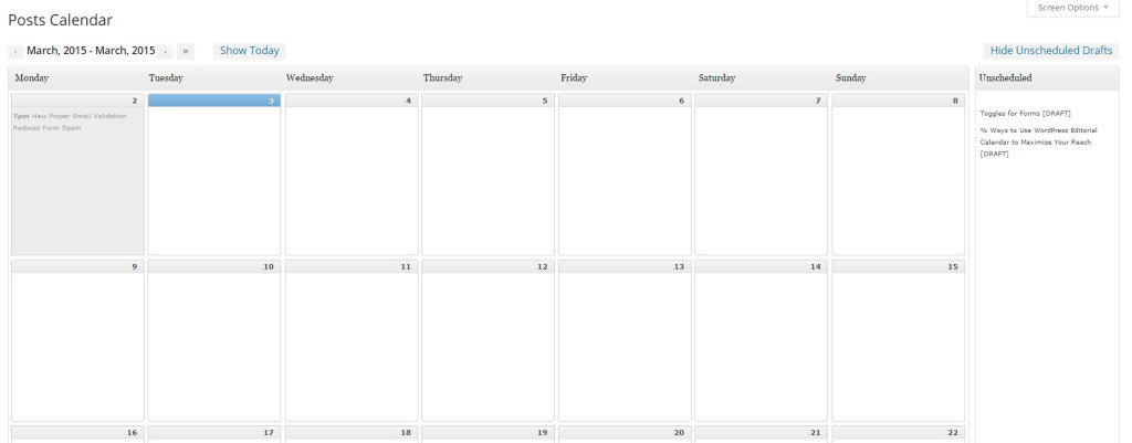 Using Editorial Calendar in your workflow