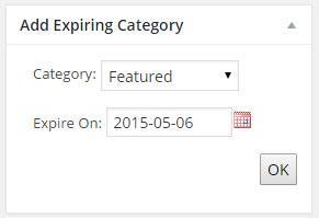 BP Expire Category Post Edit Metabox